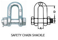 safety chain shackle
