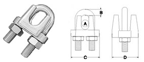 Stainless Steel Type 304 Wire Rope Clips