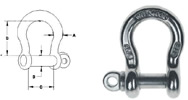 T316 stainless steel shackles